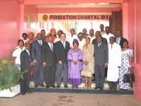 Partec à la Fondation Chantal Biya